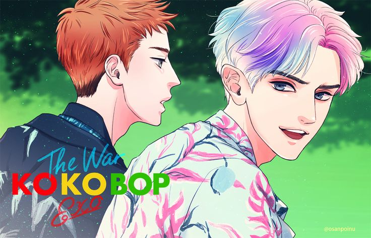 Sehun and Chanyeol Ko Ko Bop Fanart