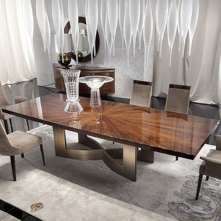 wood dining table design images