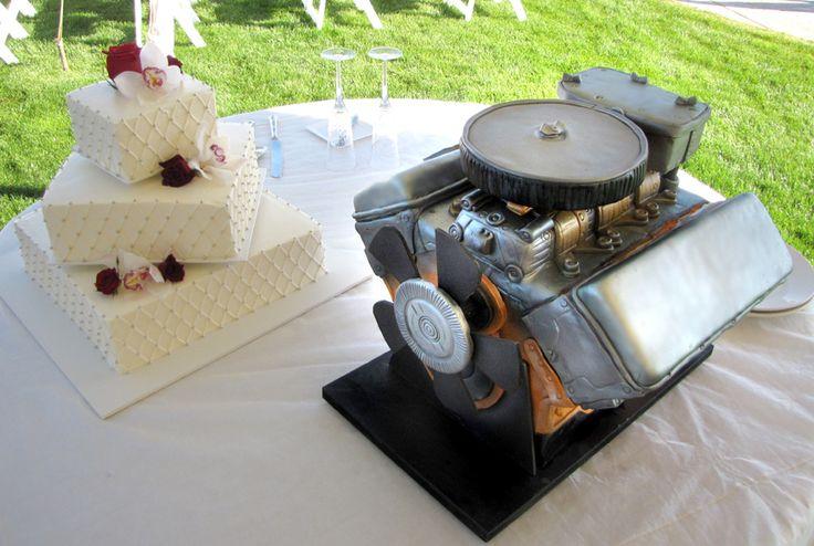 cars cakes   Car Engine Grooms Cake (aka the BEAST!)   Artisan Cake Company
