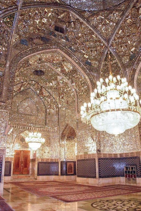 Dar-al-Siyadah Porch,Imam Reza shrine, Mashhad, Iran (Islamic Art)