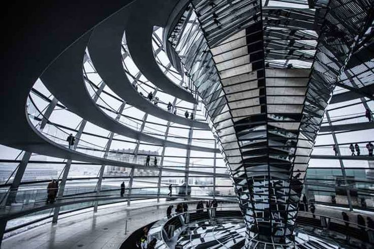 Catch a ride to the Reichstag's dome. free. Dome of the Reichstag building, Berlin. Image by Fabio / Flickr / Getty Images.