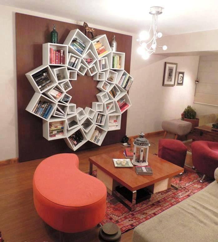 Awesome bookcase ! (Böyle bir kitaplığım olsa arkadaş sayımı minimuma indiririm.)