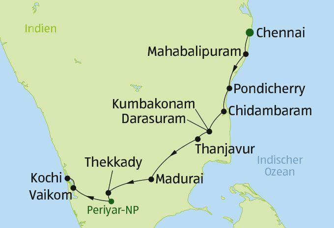 Südindien - Rundreise