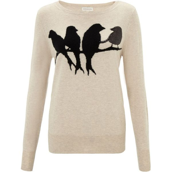 Monsoon Rhian Bird Jumper and other apparel, accessories and trends. Browse and shop 21 related looks.