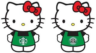 I really wish that Starbucks would collaborate with Hello Kitty soon. I would like to order a Hello Kitty plush with a side of Hello Kitty l...