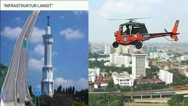 7 Meme Nyeleneh Infrastruktur Langit Buatan Warganet Gambar Lucu Lucu Gambar