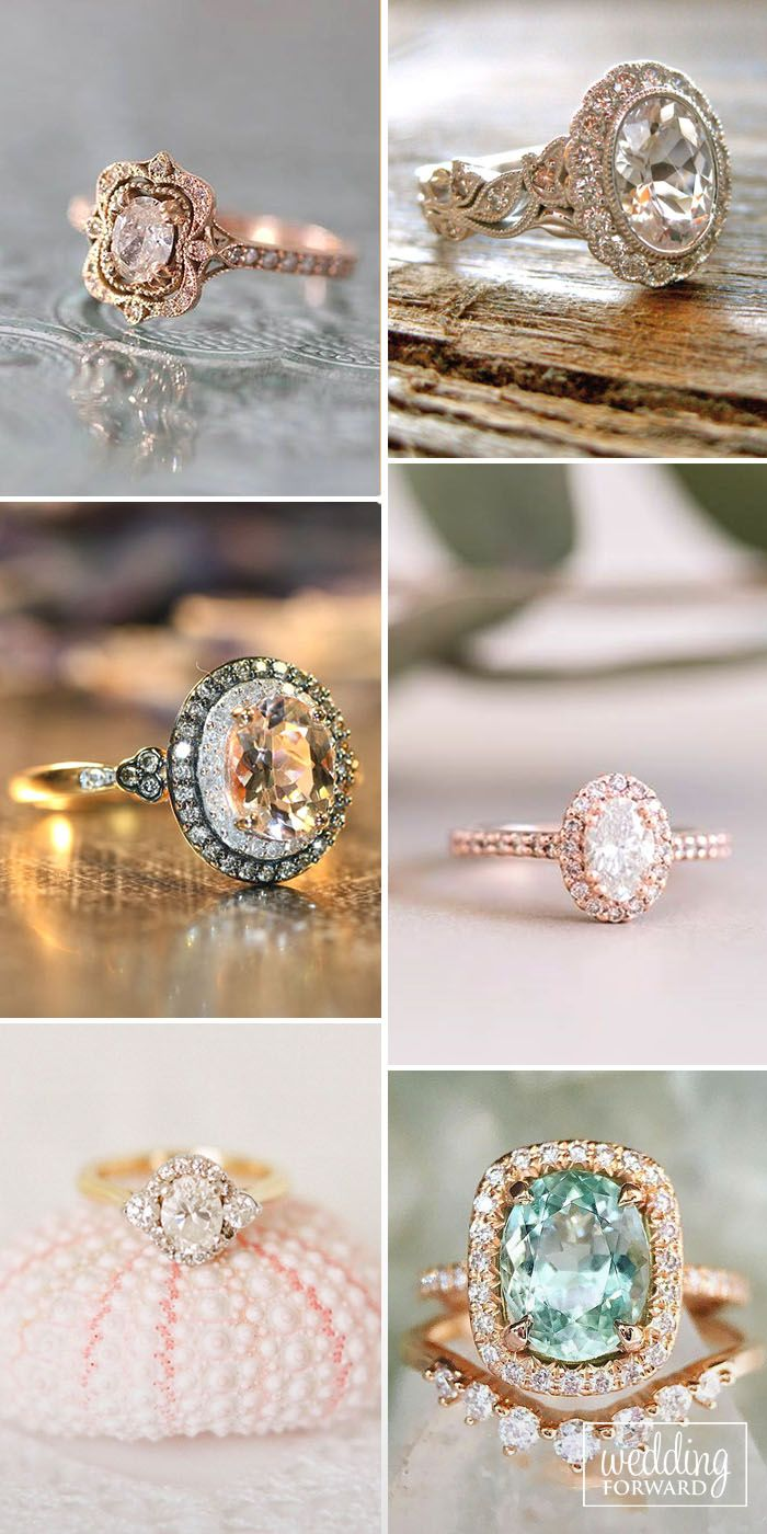 Oval Engagement Rings As A Way To Get More Sparkle ❤ Oval engagement rings are elegant, modern and at the time for a full-on classic look. See more: http://www.weddingforward.com/oval-engagement-rings/ #wedding #oval #engagement #rings