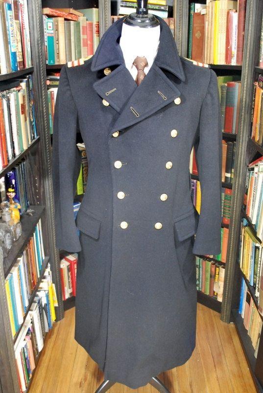Royal Navy Greatcoat Overcoat By Bwbritishvintage On Etsy