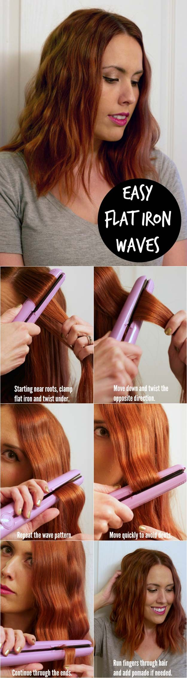 Hair Straightening Tutorials - Easy Flat Iron Waves Tutorial -Looking For The Best Hair Straightening Tutorials And The Best Straightening Tips On The Web? Whether You Are Looking To Use A Flat Iron, Or Trying To Straighten Your Hair Without Heat, Where There's A Will, There's A Way, And There Are Products To Help Your Curls. These Step By Step Hair Straightening Hacks And Tips Will Make It So You Can DIY Your Hair With Some Simple Techniques, A Brush, And Your Creativity. We Cover Natural…