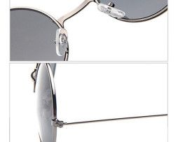 Moderné vintage polarizované slnečné okuliare - modré