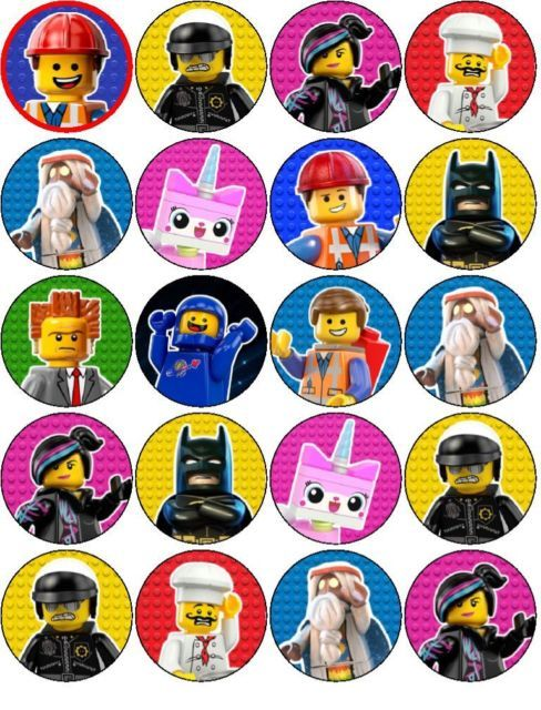 THE LEGO MOVIE EDIBLE WAFER PAPER OR ICING SHEET TOPPERS CUPCAKE CAKEPOP CAKES | eBay