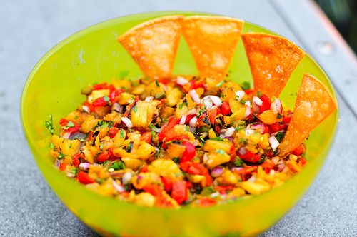 Grilled Pineapple Salsa | yummy and delicious foods | Pinterest