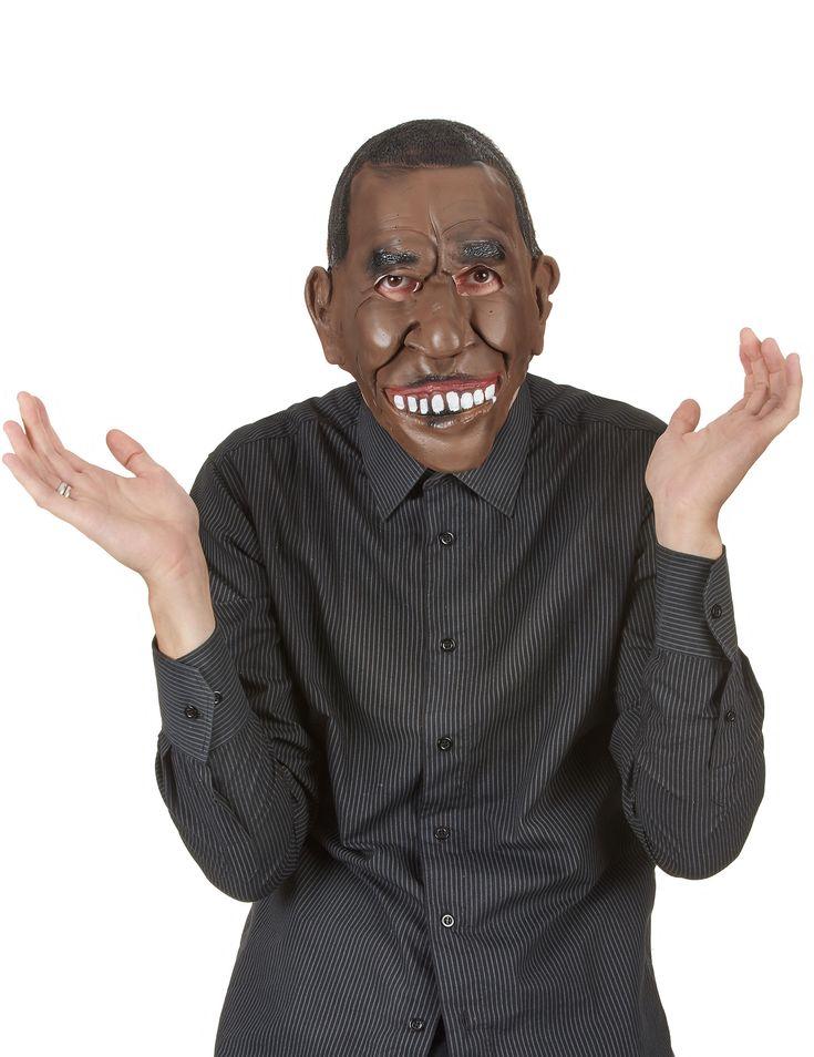 Máscara látex Presidente EEUU adulto: Esta máscara es para adulto y representa el rostro del Presidente de los Estados Unidos de América.Es de plástico flexible y se sujeta a la cara con una goma negra.Cubre 3/4...