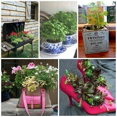 Virág cserepek újrahasznosított tárgyakból. Készítsd magad. 50 kreatív ötlet.