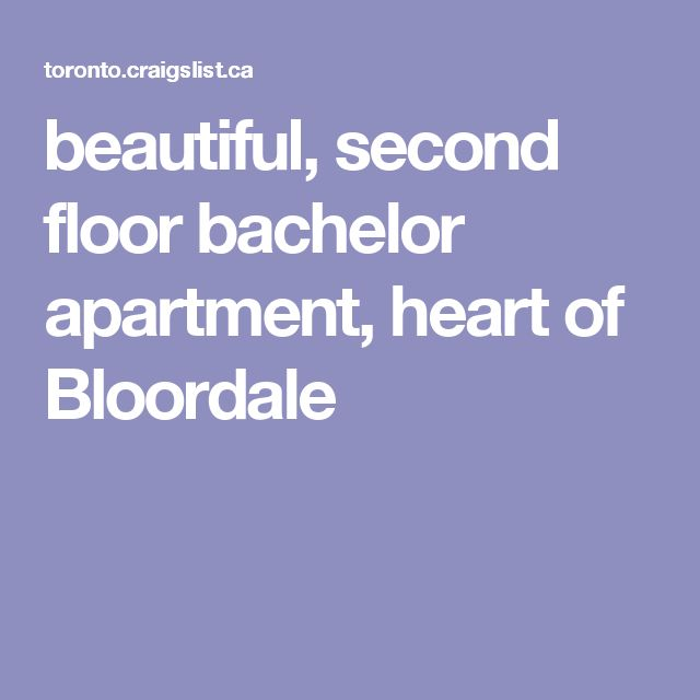 beautiful, second floor bachelor apartment, heart of Bloordale