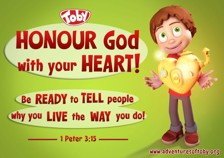 Honour God with your heart! Be ready to tell people why you live the way you do! 1 Peter 3:15