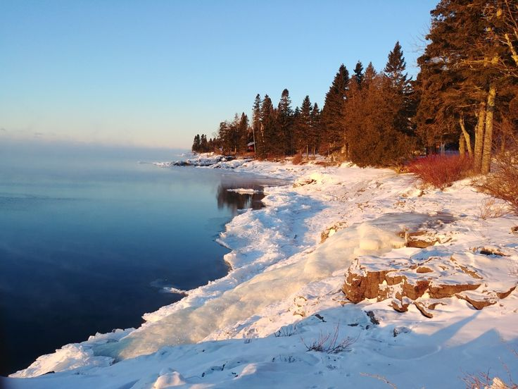 The north shore of Lake Superior as seen from Solbakken Resort, MN