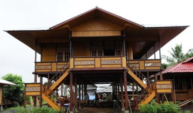 A traditional house in Minahasa, North Sulawesi, where my family comes from