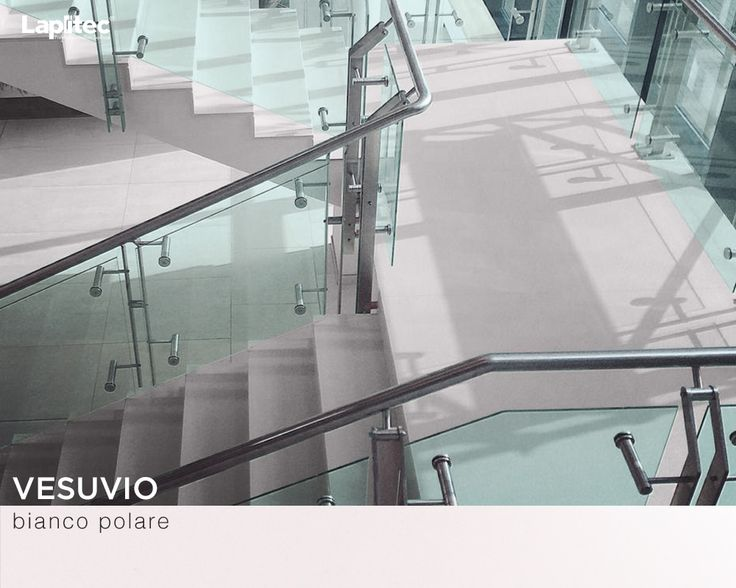 Chosen specifically for its incorruptibility and resistance to the elements, the International Airport Chisinau in Moldova features Lapitec® Vesuvio in Bianco Polare for this sophisticated staircase.