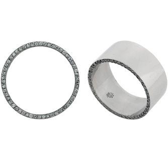 1.15 Carat Nero2 Platinum Mans Diamond Wedding Band