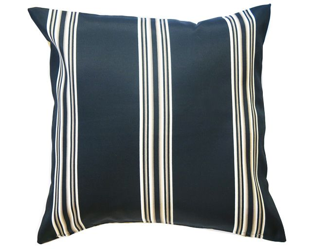 Black,White & Beige Stripe outdoor cushion RRP $39 www.tropique.com.au