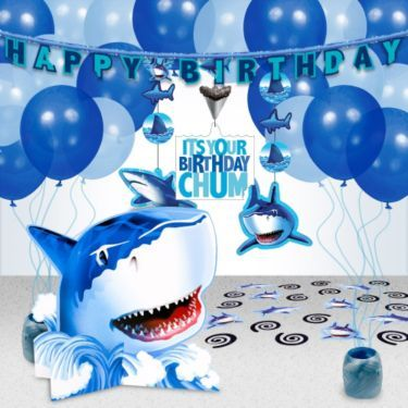 Shark Party Decoration Kit | Cheap Themed Tableware Supplies and Decorations