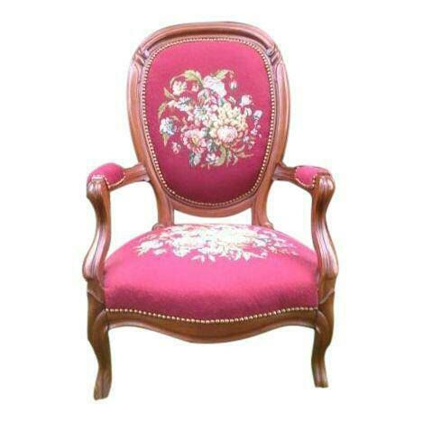 Antique Victorian Needlepoint Red Chair - Vintage Floral Armchair by  VintageHomeRehab on Etsy https:/ - 31 Best Red Chairs Images On Pinterest Mid Century, Cherry And