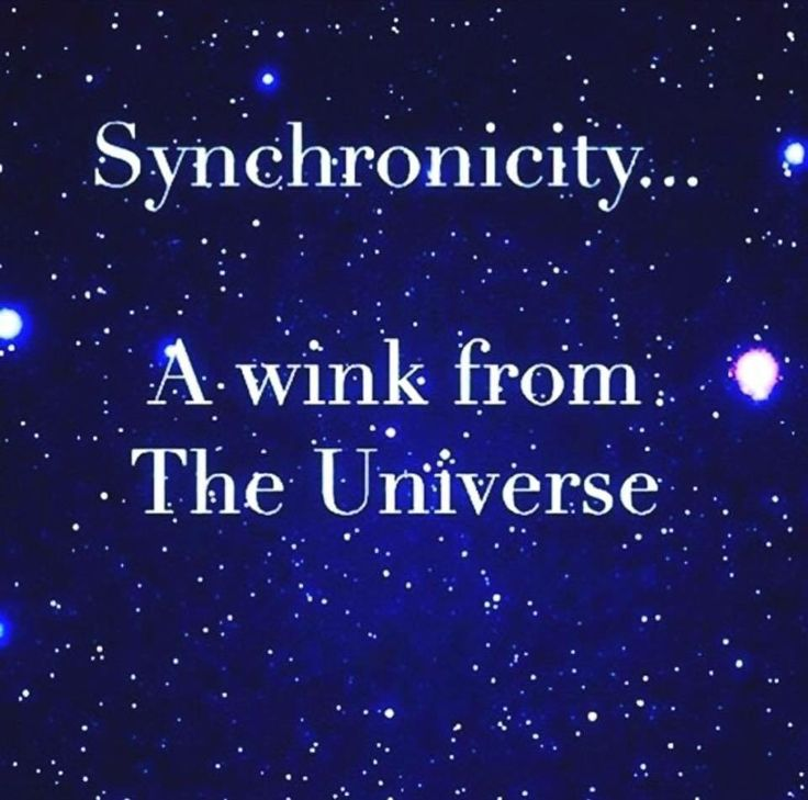 #Synchronicity A wink from the Universe.