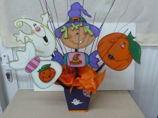 Varios halloween madera country pinterest halloween - Decoracion mesa halloween ...