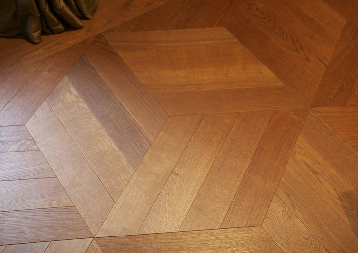 Cube parquet layout for Waterlane house in Gloucestershire, England.
