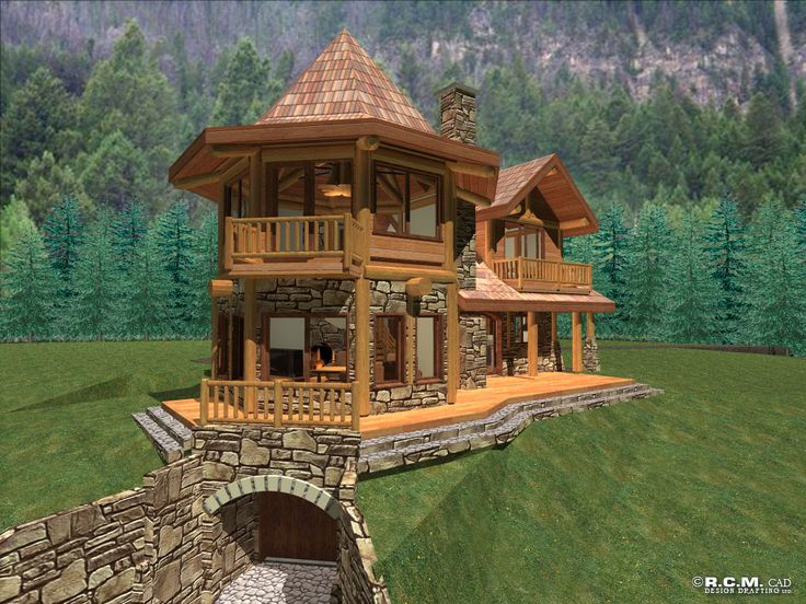 Unique Log Cabin | Anderson Custom Homes - Log Home Cabin Packages