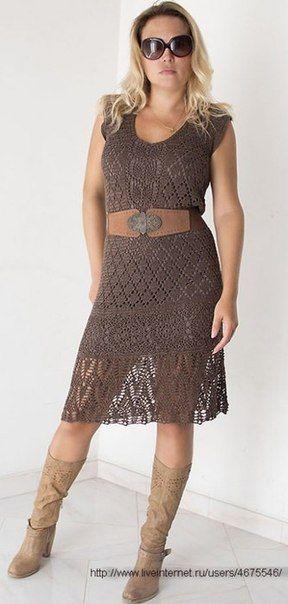 ◇◆◇ Ажурное платье крючком фото #1
