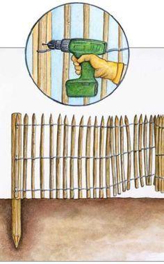 Immer öfter sieht man in den Gärten die einfachen, aber optisch sehr ansprechenden Holzzäune, die oft schon nach einem Jahr ihre typisch graue Patina zeigen. Wir zeigen Ihnen, wie Sie einen solchen Staketenzaun selbst aufstellen.