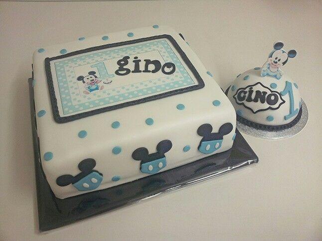 Baby mickey mouse cake www.dezoetetaart.com