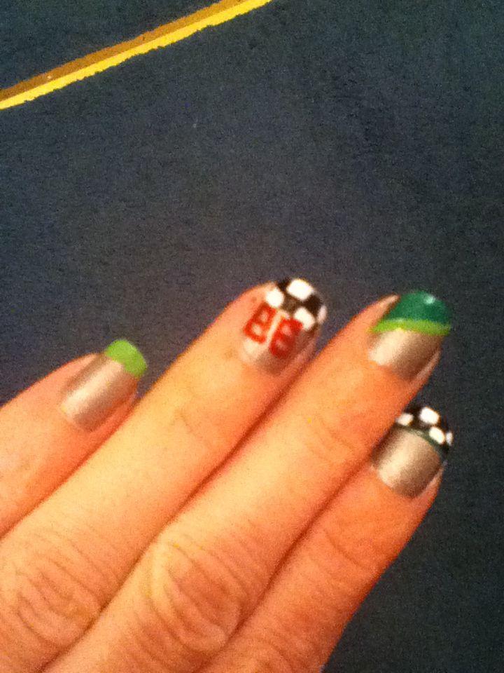16 best nascar nails images on Pinterest | Nascar nails, Finger ...