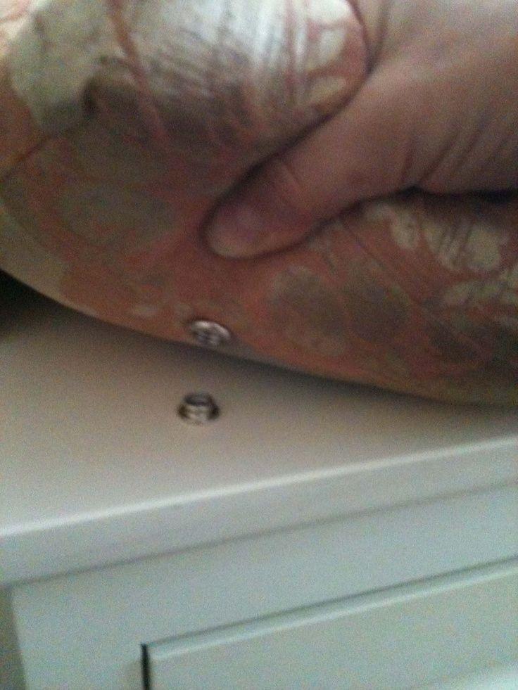 screw-snap attached to built-in window bench #design #interiordesign