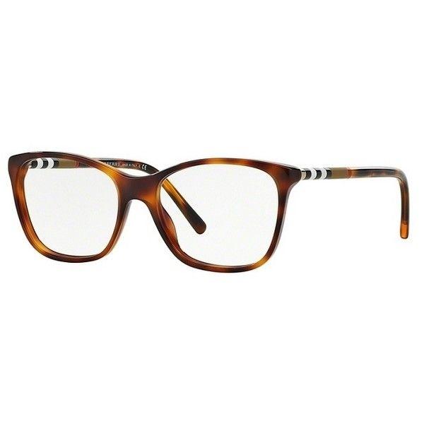Burberry BE2141 3316 Havana Eyeglasses ($195) ❤ liked on Polyvore featuring accessories, eyewear, eyeglasses, plastic glasses, burberry glasses, burberry eyeglasses, burberry eye glasses and burberry eyewear