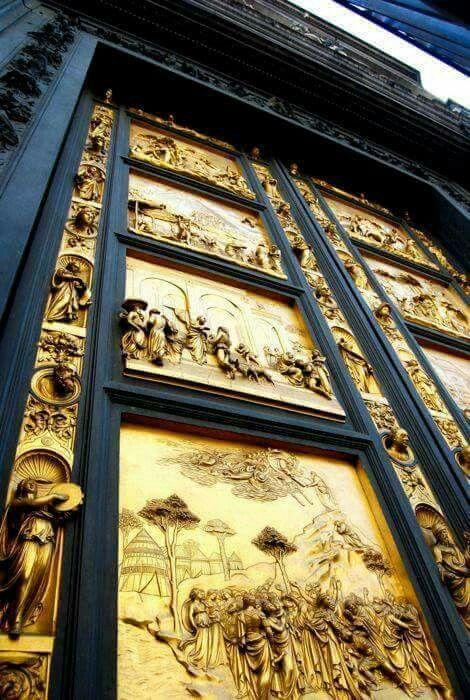 Porta del Paradiso,Batisterio de #FLORENCIA#**