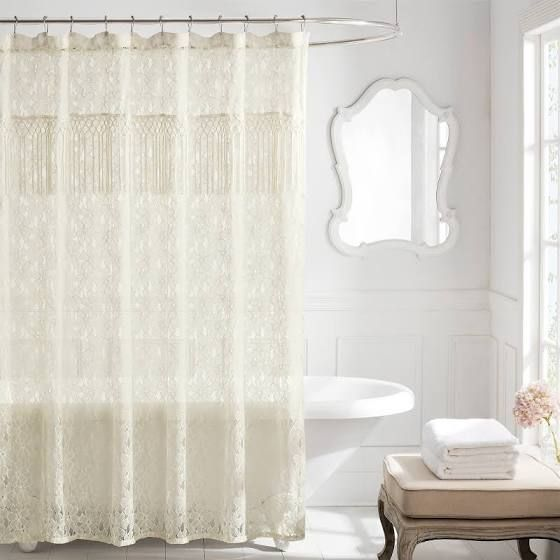 Fabric Shower Curtain Eyelet With Images Fabric Shower
