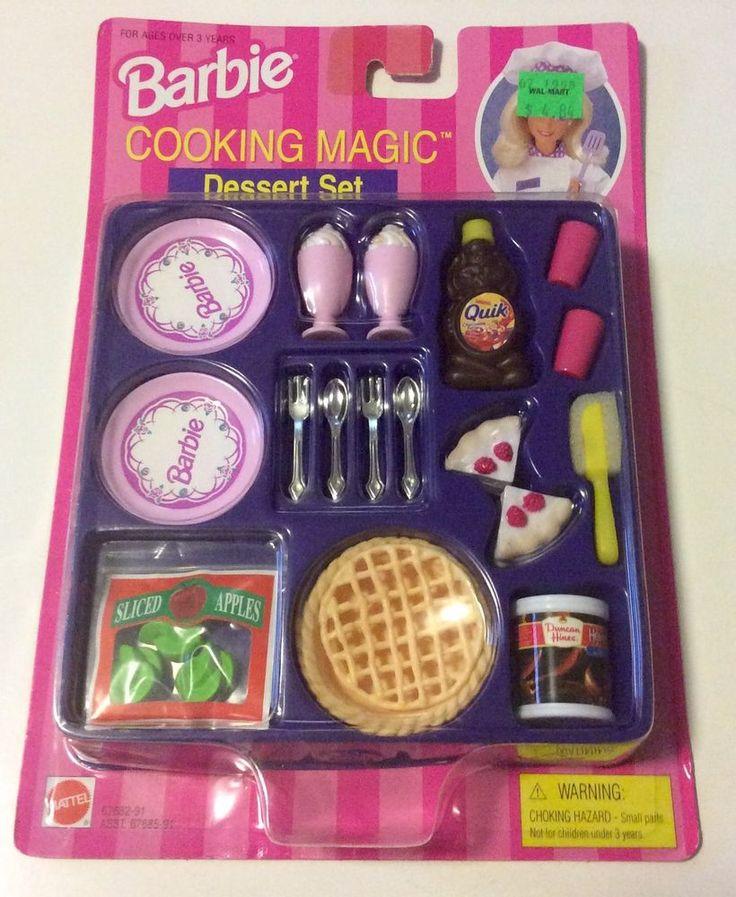 Barbie cooking magic dessert set mini food set 1997