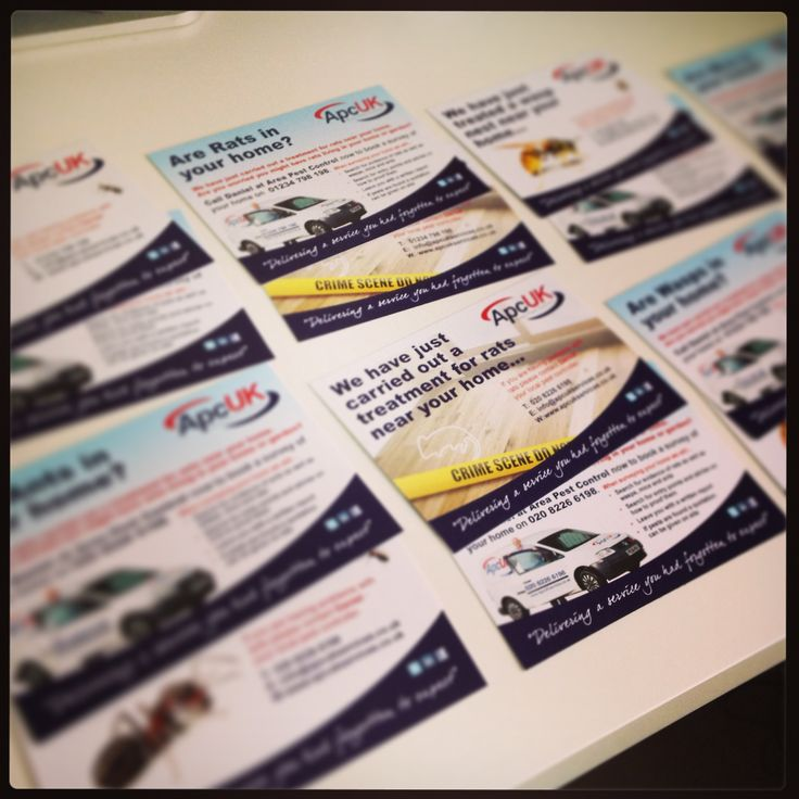 Another great digital print example. A6 postcards x8 kinds. Each advertising a different service