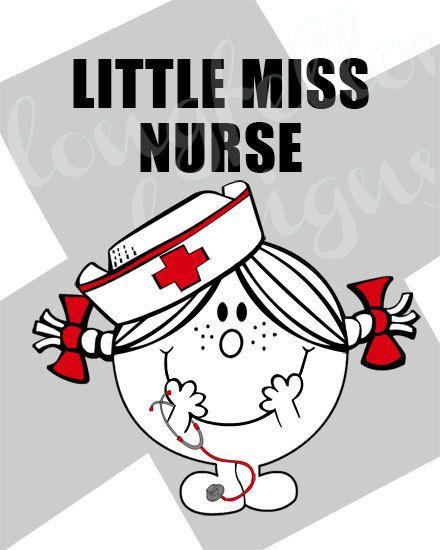 Little Miss Nurse 8 x 10 Modern Wall Art by Longfellowdesigns, $18.00