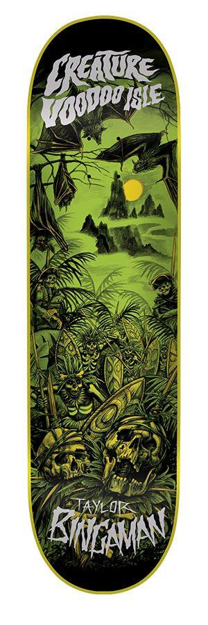 Creature Skateboards: 8.375in x 32in Bingaman Voodoo Isle Pro