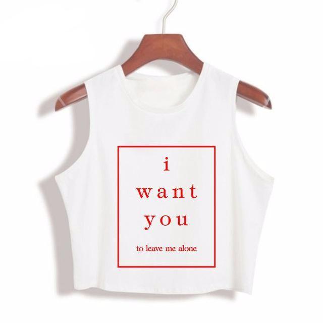 I WANT YOU Ladies' Crop Shirt