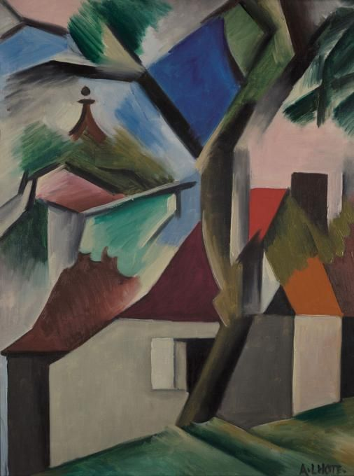 Landscape with houses, André Lhote. French (1885 - 1962)