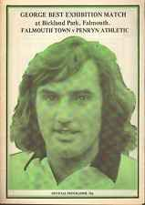 George Best Exhibition Football Match Falmouth Town v Penryn Athletic, 1983