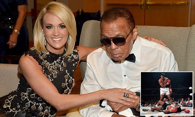 The final picture... as The Greatest fight is over: Photo shows Muhammad Ali looking frail in last public appearance as his family start battle over his £55m fortune | Daily Mail Online