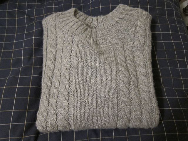 Ravelry: Dr. Watsons Cabled Crew-Neck pattern by Trudi Brown