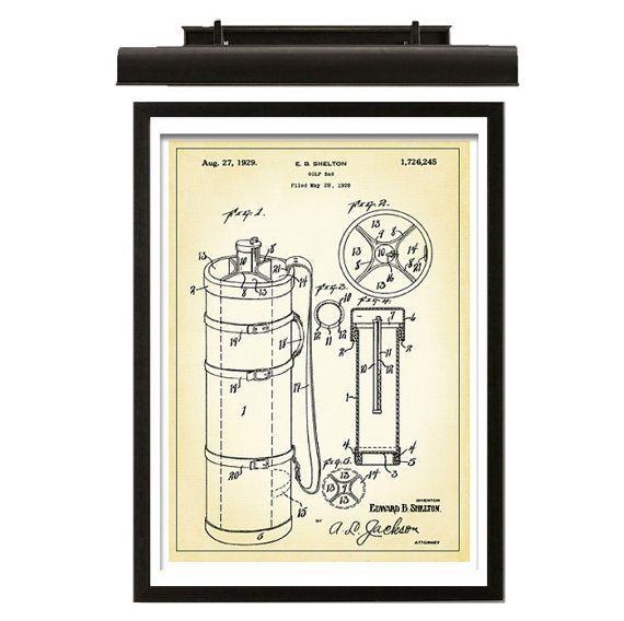 Golf Bag Patent Download  Vintage Golf Bag by MKArtandPrints, $4.95