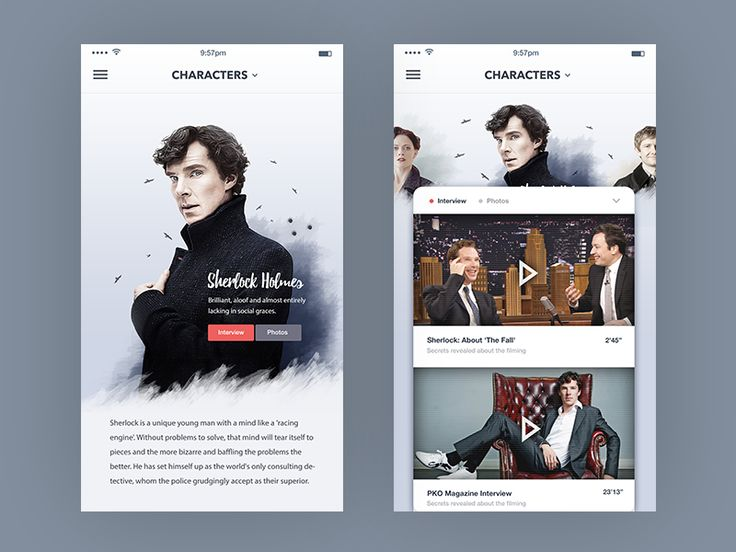 TV Show Characters page : Mobile